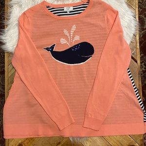 🦋Crown and Ivy Intarsia Whale Sweater🦋